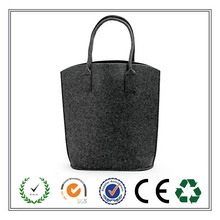 Top quality simple fashion grey felt shopping bag made in China