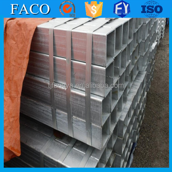 square steel pipe ! 50 x 50 1.6 pre galv 2100 length and 2400 length