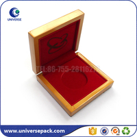 Fashion custom wooden cd box with velvet insert for storage