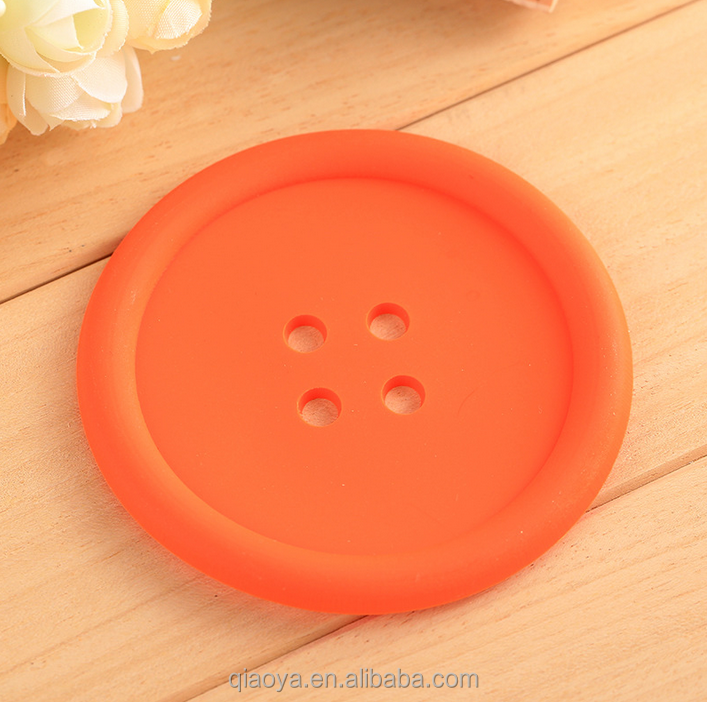 Button shaped Silicone Table Tea Pot Cup Mat Honeycomb Shape Silicone Hot Pot Pad colorful cup mat for table decoration