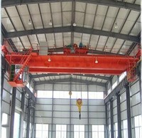 Big Double girder electric overhead travelling crane overhead bridge crane 20 ton