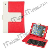 2013 Newest Removable Bluetooth Keyboard Leather Case for iPad Mini with Stand Holder