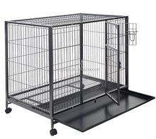 Chinese Manufacturer Customized Stainless Steel Pet Dog Cage With plastic flooring / Dog Kennel Dog House
