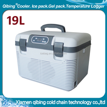 19L Car refrigerator blood transport van DC 12V freezer