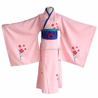 Japanese Anime Gintama Shimura Tae Cosplay Costume Red Floral Pink Yukata Kimono Halloween Costumes for Women
