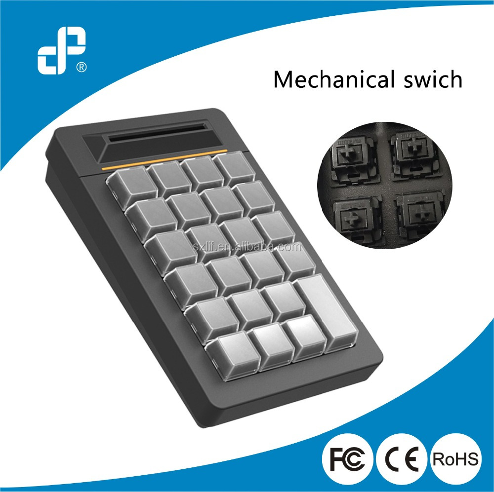 Smart card reader mini programmable mechanical pos keyboard