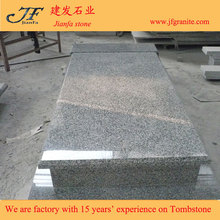 Grey G435 Chinese Granite Flat Headstones For Graves