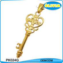 Olivia European carve patterns god cross symbols key shaped pendant