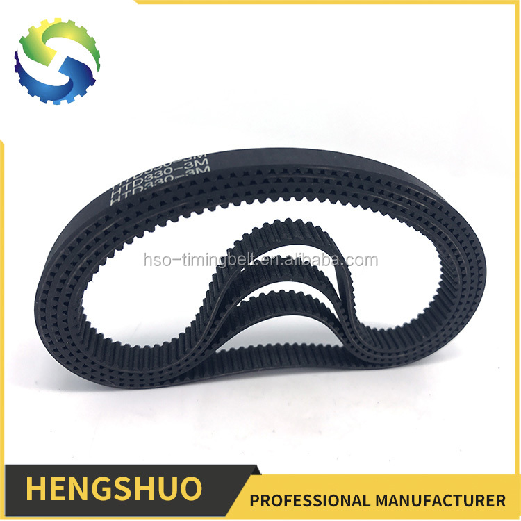 HENGSHUO antistatic oem industrial rubber belt timing belt machinery variable speed belt