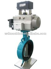 Butterfly valve for cement,pneumatic operated butterfly valve