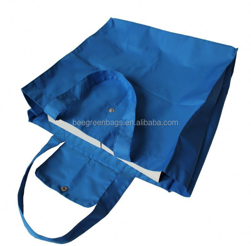 High quality promotion 190T polyester custom reusable shopping bag