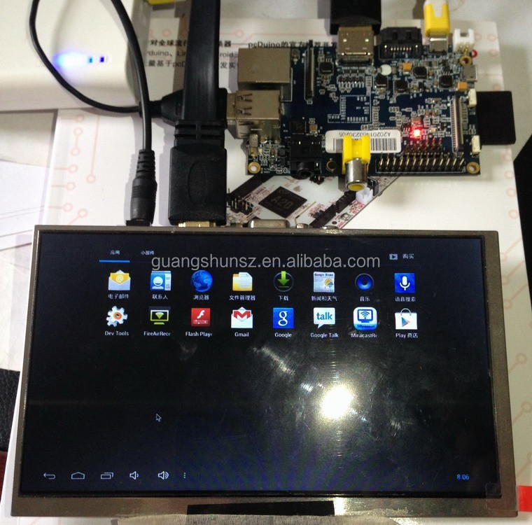 Best Price Banana PI 7 inch TFT LCD with HDMI interface