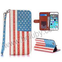 2014 Wholesale Handbag Flip Cover Leather for iPhone 6 iPhone 6 Plus Case with Strap