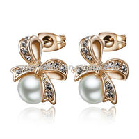 2014 new products earrings artificial pearl earrings models of gold earrings in party