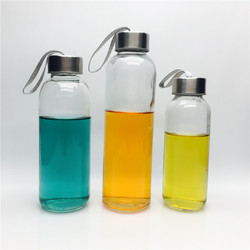 300ml 420ml 500ml clear empty glass water bottles sports drinking bottles automotive glass bottles