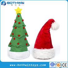 Musical singing and dancing christmas tree hat plush toys