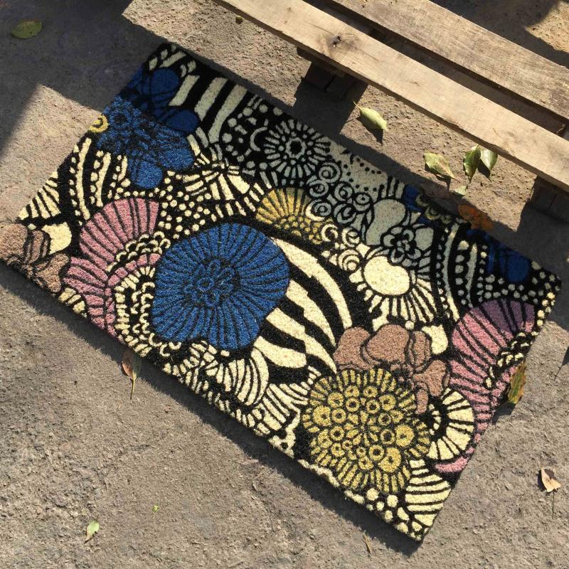 Oriental Natural Coconut Print Doormat