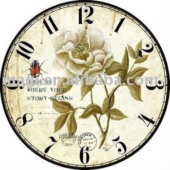Spring Nature Wooden Outdoor Clocks