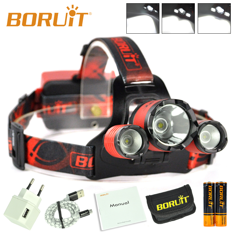 Top Quality Boruit B21 6000 Lumens Most Powerful LED Light Headlamp
