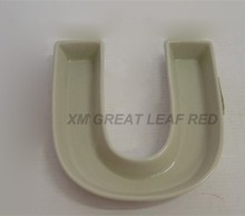U shape ceramic glaze plate stoneware tray ceramic tableware