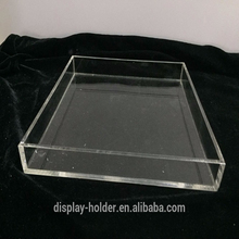 Wholesale custom made clear acrylic plexiglass tray with handle