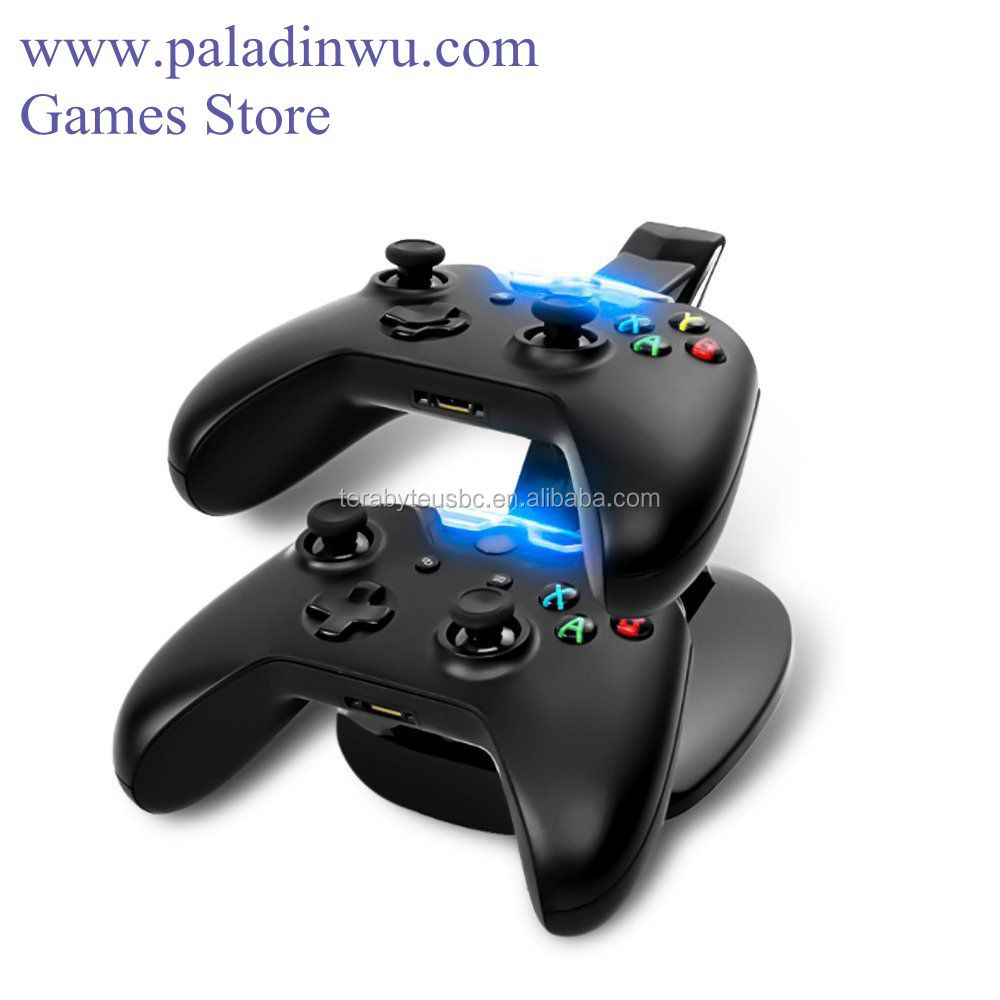 Wholesale LED charging dock dual charge stand for xbox one controller with USB port