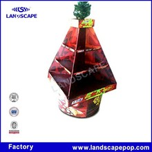 Custom beverage display rack like Christmas Tree for Candy Promotion