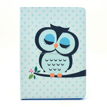 Owl design flip wallet leather case for iPad mini 4, PU wallet flip case pouch for ipad mini 4