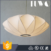 OEM Custom shaped cheap price silk suspension led pendant lamp/light from zhongshan factory