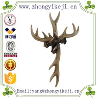 2015 chinese factory custom made handmade carved hot new products polyresin deer antler
