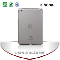 2014 Ultra-thin Matte Back Cover PC Clear Hard Skin Case for Ipad mini