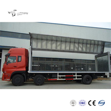 25T Truck Lorry Truck Dimensions Opening Cargo Box Type Wing Van Truck
