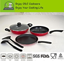 2015 Hot selling Aluminium Cookware sets with Nylon shovel