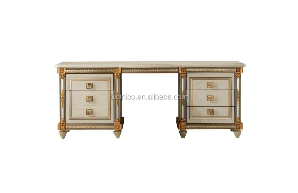 New Arrival Caribbean And Italian Style Wooden Hand Carved Bedroom Furniture Set Solid Wood