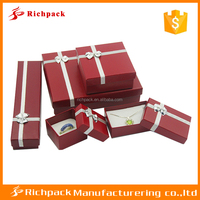 Trade Assurance Experienced Manufacturuer for Custom logo ribboned PVC Bow jewelry packaging box