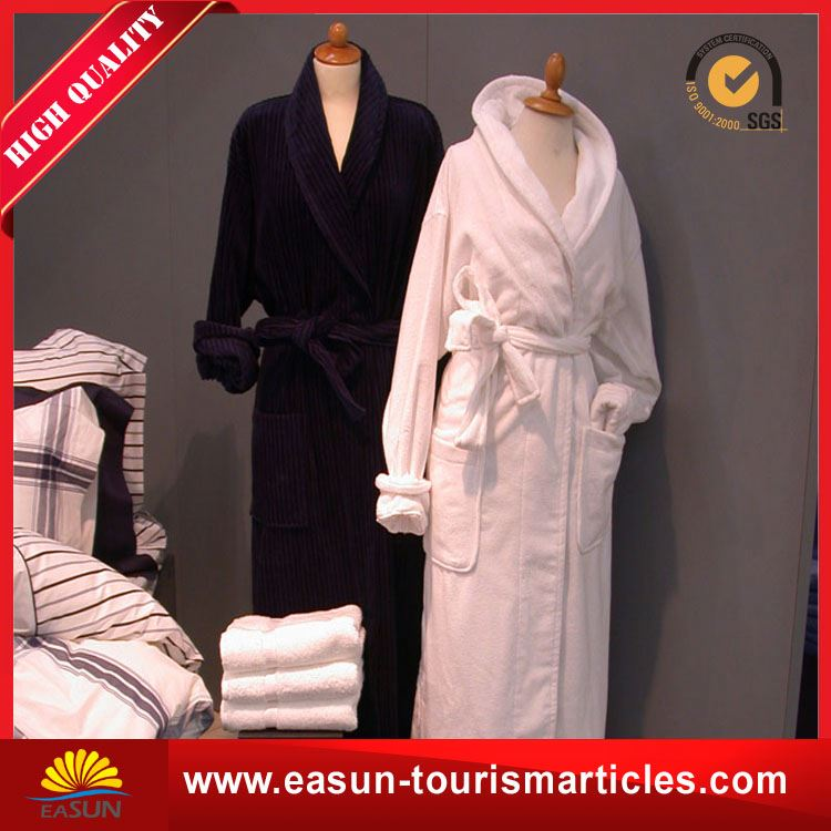 Low price ladies hood cotton towel bathrobe polar fleece bathrobes