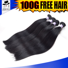 best quality peruvian 100% natural straight human hair tangle free