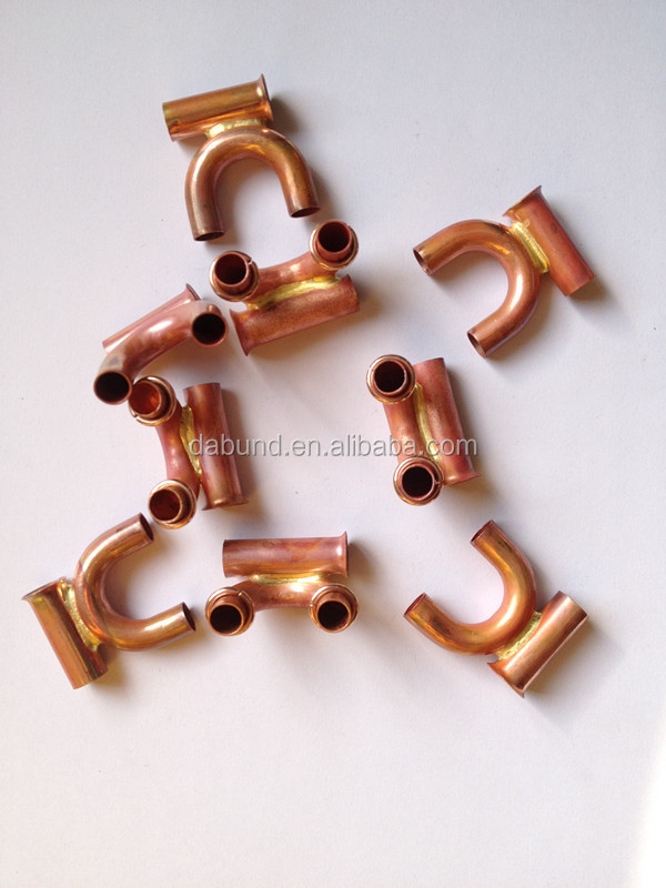 Round brass tube fittings copper tube corner connectors for Copper water pipe connectors