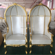 White Canopy Royal High Back Chair