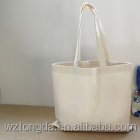 Custom Eco Bags Tote 12oz Cotton Women's Shopping Blank Canvas Shoulder Bag