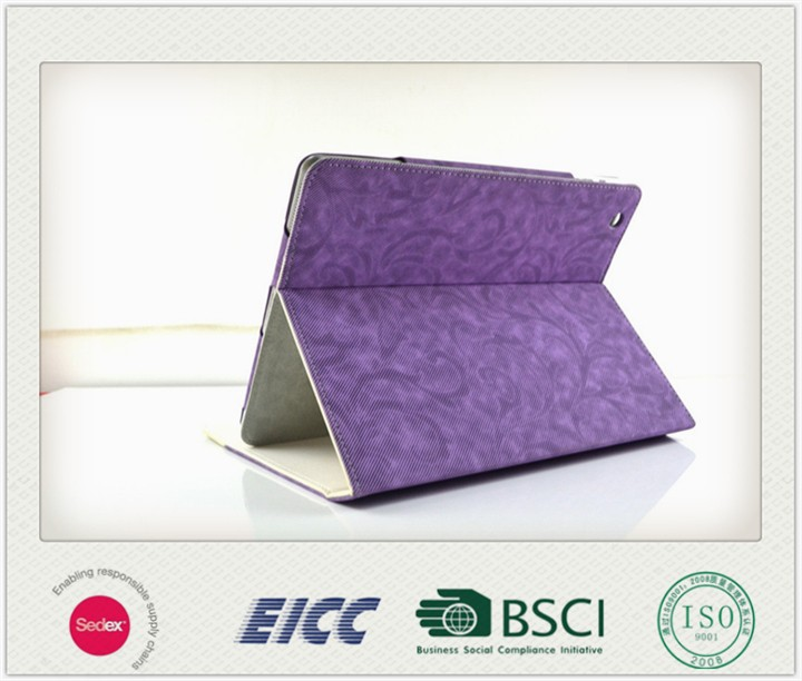 BSCI, Sedex, ISO 9001:2008, EICC for Ipad air cover/waterproof case for Ipad 5/for Ipad case wholesale