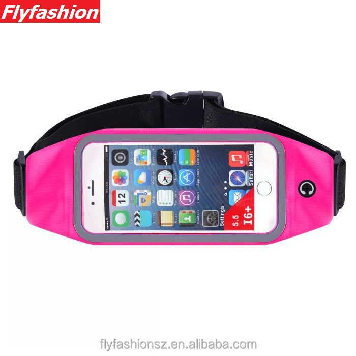 Running Belt Waist Pack Outdoor Sweatproof Reflective Belt Waist Bag for iPhone 6S/6/6 PLUS Transparent Touch Screen Window