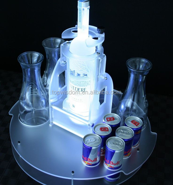 Cheap Best-Selling customized acrylic bottle glorifier led lighting base