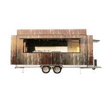 BAOJUFV-55New st fast large food carts for fast bbq food van with wheels mobile outdoor kiosk for food