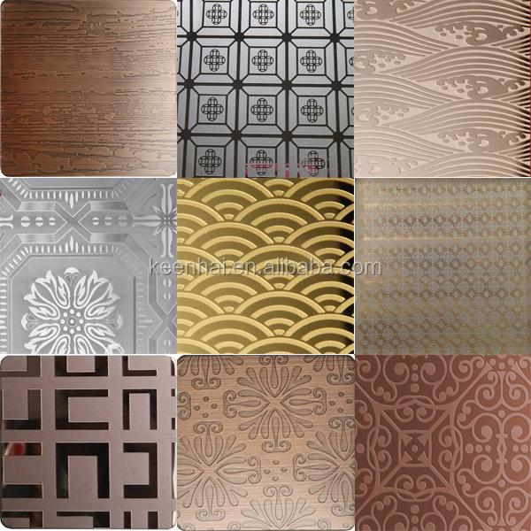 304 4x8 decorative stainless steel kitchen decorative panels