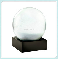 Unique 100mm glass globe customize resin snowball