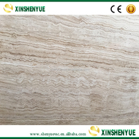 Polished Wooden Travertine Marble Floor Tile Wholesale