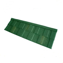 Clear acrylic glazing stone chip coated roof tile