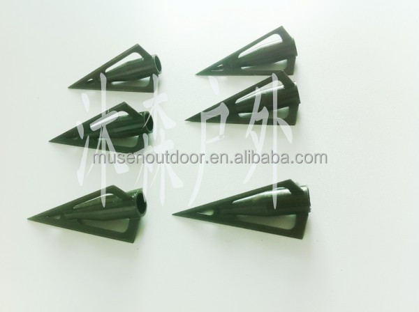 Fixed blade Broadhead/arrow head for bamboo/wood arrow,laser welded