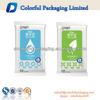2015 Custom printed Side Gusset Foil Wet Wipe Plastic Packaging Bags With Soft Lid
